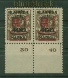 Memel Mi # 232 und 232 VII Unterrandppar postfrisch  (40027)