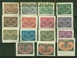 Generalgouvernement Dienst Mi # 1/15 gestempelt auf Briefstücke (42193)