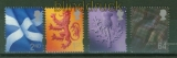 Großbritannien Schottland Regionalmarken Mi # 77/80 postfrisch (42161)