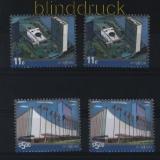 UNO New York 2 x Mi # 1242/43 UNO Gebäude postfrisch (29758)