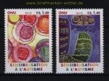 UNO Genf Mi # 788/89 Autismus besser berstehen postfrisch (30799)
