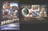Tuvalu 2011 50. Jahrestag der ersten Person im Weltall 2 ** Kleinbögen (29925)