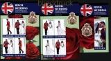 Tuvalu Mi # 1725/28 und Block 169 Hochzeit v Prinz William + Catherine Middleton postfrisch (31045)