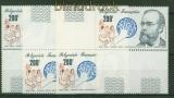 Französisch Polynesien 4 x Mi # 346 postfrisch Robert Koch (34754)