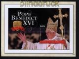 Papua Neuguinea Mi # Block 123 Papst Benedikt XVI postfrisch (30655)