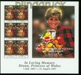 Turks und Caicos-Inseln Mi # 1434 1 Todestag von Prinzessin Diana postfrisch (41965)