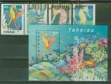 Tokelau-Inseln Mi # 303/06 und Block 23 Seepferdchen postfrisch (42091)