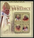 Tuvalu Mi # 1559/62 Kleinbogen postfrisch Papst Benedikt (32538)