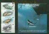 Tonga Mi # 94/97 und Block 5 Haie postfrisch (41419)
