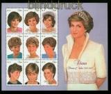 Niue Mi # 1158/66 Prinzessin Diana postfrischer Kleinbogen (35342)