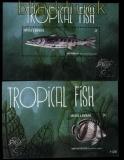 Antiqua und Barbuda Mi # Block 691 und 692 Fische tropischer Meere postfrisch (30913)