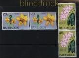 Barbados 2 x Mi # 420/21 Orchideen postfrisch (29074)