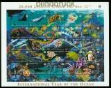 Antiqua und Barbuda Mi # 2714/38 postfrischer Zusammendruckbogen Ozean  (35527)