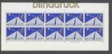 Japan Mi # 979 postfrischer Kleinbogen Straßenkonferenz (43399)