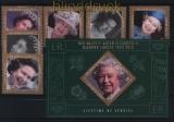 Belize Mi # 1332/37 + Block 103 60. Thronjubiläum von Königin Elisabeth II postfrisch (30760)