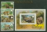 Belize Mi # 719/22 und Block 61 WWF Jaguar postfrisch (41434)