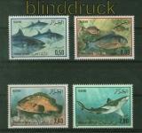 Algerien Mi # 873/76 Fische 1985 postfrisch (41379)