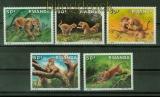 Ruanda Mi # 1375/79 Leopard postfrisch (41398)