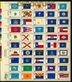 USA Mi # 1203/52 postfrisch kplt. Zdr.-Bogen 200 Jahre Unabhängigkeit (35243)