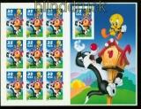 USA Mi # 2950 Sylvester und Tweety komplettes Folienblatt 45 a postfrisch (35253)