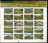 USA Mi # 3464/73 postfrisch Folienbogen Baseballstadien (35267)