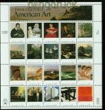 USA Mi # 3007/26 postfrisch Zusammendruckbogen Bildende Kunst (35255)