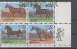 USA Mi # 1767/70 Pferde postfrischer 4er-Block mit Zip-Code (43403)