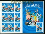 USA Mi # 3493BA Schweinchen Dick komplettes Folienblatt 76 b postfrisch (35270)