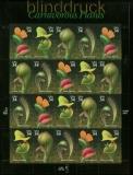 USA Mi # 3482/85 postfrisch Folienbogen Fleichfressende Pflanzen (35268)