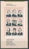 USA Block 17 bis 20 postfrisch Präsidenten der USA (41941)