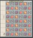 USA Mi # 1145/48 postfrischer kplt. Zdr.-Bogen Mineralien (43439)