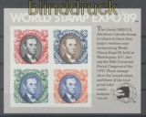 USA Mi # Block 21 World Stamp Expo 1989 postfrisch (43406)