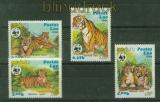 Laos Mi # 706/09 WWF 1984 Tiger postfrisch (41424)