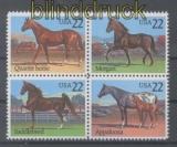 USA Mi # 1767/70 Pferde postfrischer 4er-Block (43401)