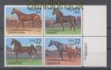 USA Mi # 1767/70 Pferde postfrischer 4er-Block mit Copyright (43402)