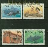 Südafrika Mi # 766/69 Komoren-Quastenflosser postfrisch (41403)