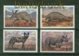 Sambia Zambia Mi # 460/63 Tiere 1988 postfrisch (41383)