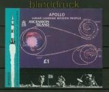 Ascension Mi # Block 20 postfrisch Mondlandung (34861)