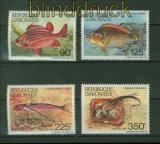 Gabun Mi # 679/82 Fische postfrisch (41384)