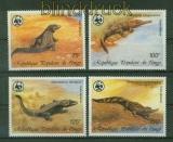 Kongo Mi # 1063/66 WWF Krokodile postfrisch (41387)