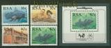 Südafrika Mi # 766/69 und Block # 22 Komoren-Quastenflosser postfrisch (41402)