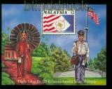 Malaysia Mi # Block 7 C 125 Jahre Briefmarken postfrisch  (35576)