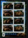 Guyana 2011 WWF Waldhund postfrischer Kleinbogen (30764)