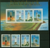 Sri Lanka Mi # 1098/1101 und Block 61 postfrisch Leuchttürme (35585)