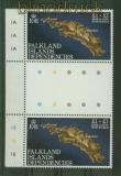 Falkland-Inseln Mi # 354 im senkrechten Zwischenstegpaar postfrisch (34884)