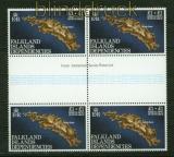 Falkland-Inseln Mi # 354 4er-Block im senkrechten Zwischenstegpaar postfrisch (34885)