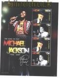 Gambia Mi # 6096/99 postfrisch Tod von Michael Jackson Kleinbogen (29935)