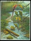 Guyana Mi # 6637/44 Papageien postfrischer Kleinbogen (35542)