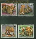 Burkina Faso Obervolta Mi # 957/60 A WWF Gepard postfrisch (41380)