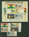 Ghana Mi # 424/38 A und Block 42 postfrisch Pfadfinderinnen (41252)
